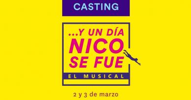 """Casting """"…Y un día Nico se fue"""" Comedia Musical dirigida por Ricky Pashkus"""